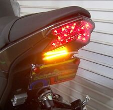 Kawasaki Z125 Pro Fender Eliminator, Front & Rear LED Turn Signals - Clear Lens