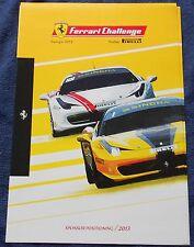 Ferrari Challenge 2013 patrocinador Positioning Folder n brochure Book depliant Press