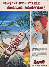 Vintage Advertising poster  A4 RE PRINT Bounty Chocolate Bar (RT)