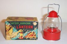 NICE OLD 1950's BATTERY OPERATED HURRICANE RAILROAD LANTERN TOY SONSCO Co. JAPAN