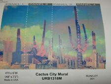 Urban Outfitters  Cactus City Wallpaper Mural-4 x 6