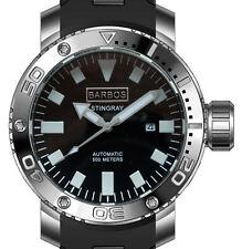 "BARBOS ""Stingray"" AUTOMATICO OROLOGIO SUBACQUEO IMPERMEABILE 500m/50atm armbandurh..."