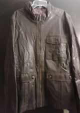 Ted Baker dark brown leather jacket UK size 6