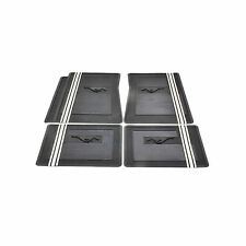 1965-1973 Ford Mustang Black Pony Floor Mats w/ GT Stripe