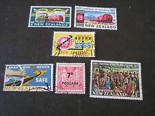 NEW ZEALAND, SCOTT # 362/363(2)+364+365+366+367, TOTAL 6 1963-64 VARIOUS USED