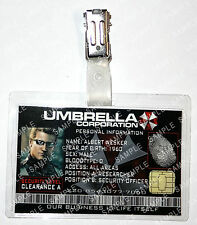 Resident Evil ID Badge - Albert Wesker Umbrella Zombie Cosplay Prop Halloween