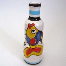 """Vintage 1976 MCM Mann Arte D Ceramica Italian 9 1/2"""" Bottle Vase Fish Flower"""