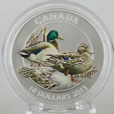 Canada 2013 $10 Mallard: Ducks of Canada #1, 99.99% Pure Silver Color Proof Coin