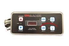 SpaBuilders TOPSIDE LX-15 6-buttons alpha rev 5.31 + 6' wire, part# 3-00-0140