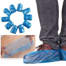 100Pcs Waterproof Disposable Plastic Shoe Covers Carpet Cleaning Overshoes