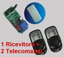 Ricevitore radio 1 Rele 230Volt + 2 Trasmettitori A 433MHz telecomando cancelli