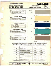 1951 PACKARD CLIPPER PATRICIAN 300 51 PAINT CHIPS SHERWIN WILLIAMS 2