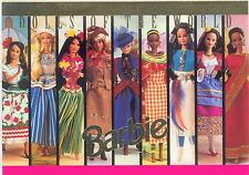 BARBIE THE WORLD OF 1997 TEMPO PROMO CARD DOLLS OF THE WORLD NO NUMBER FOIL