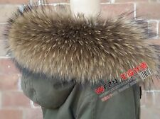 GENUINE REAL  fiin raccoon fur  SCARF STOLE COLLAR WRAP SHAWL 4 Colours