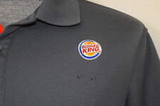 Burger King BK Official Uniform Costume Polo Shirt Unisex Crew Gray Size Med