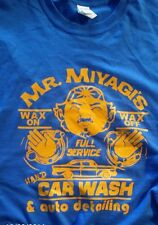 "Mr Miyagi wax on wax off ""Karate Kid"" detailing custom t-shirt graphic tee s-xL"