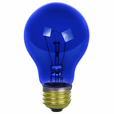 Sunlite Incandescent 25 Watt A19 Blue Transparent 1250 Lumens Light Bulb 2 Pack