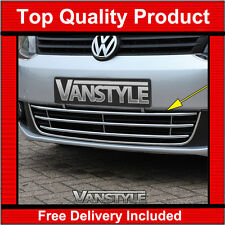 VW CADDY CHROME VANSTYLE FRONT LOWER GRILLE KIT 2010-15 QUALITY STAINLESS STEEL