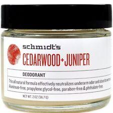 Schmidt's Natural Deodorant Jar Cedarwood Juniper Jar 2 oz