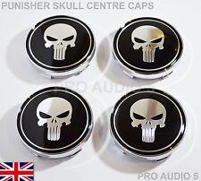4x Punisher Skull Rueda Centro Tapas 60mm Vw Audi Seat Skoda Saab Universal-Uk
