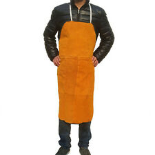 "Heat insulation protection Safety Welding Leather Work Bib Apron 28"" W x 39"" L"