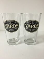 Yards Brewing Co. 16 oz Signature Beer Pint Glass - Set of Two (2) Glasses NEW