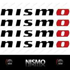 "(4) NISMO Die Cut Decal Stickers MATTE BLACK and RED Large 12"" INCH"