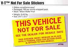 Car Dealer Not For Sale Stickers, Versa Tag, 5 packs - 500ct
