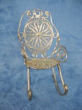 Vintage Miniature Silver Filigree Rocking Chair Intricate Designs