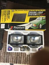 RAYDYOT 1980's FRONT SPOT FOG LIGHTS CLASSIC RETRO UNUSED PAIR IDEAL FORD Xr3i