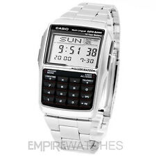 **NEW** CASIO DATABANK CALCULATOR RETRO STEEL WATCH - DBC-32D-1A - RRP £55