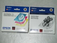 4 Genuine Epson T0425 CYM  & T0321 Black Color Ink Cartridges. Exp:2014. WOW!