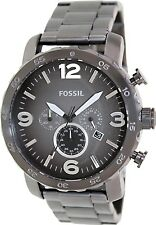 Fossil Men's Nate JR1437 Grey Stainless-Steel Analog Quartz Watch