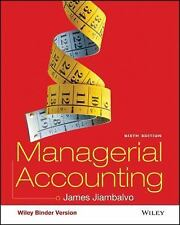 Managerial Accounting by James Jiambalvo (2015, Ringbound / Ringbound)