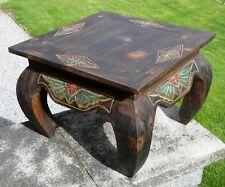 Großer Opiumtisch Holz Nachttisch Telefontisch Handarbeit Tisch 07