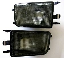 VW Golf Jetta MK3 3 III Black Smoke Euro E-Code Front Bumper Turn Signal Lights