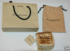 Burberry Ring Case / Holder & Bag Set - London - New w/ Tags - Wedding Keepsake