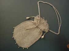 FANTASTIC SILVER CHAIN MESH LADY'S EVENING PURSE/ BAG