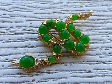 Vintage Costume Jewelry Grosse 67 Germany Snake Serpent Pin Brooche Jade?