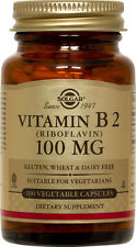 Solgar Vitamin B2 Riboflavin 100mg 100 Vegetable Capsules