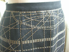 "NARCISO RODRIGUEZ ""Punk Couture"" Skirt Handmade Italy sz 42"