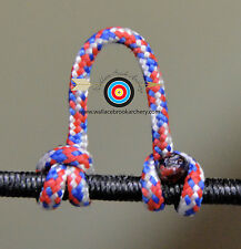 3 Pack Red/White/Blue Archery Release Bow String Nock D Loop Bowstring, Brownell