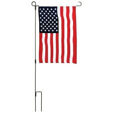 USA Garden Flag Kit American Flag 12x18inches with Iron Pole Patriotic New