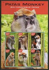GHANA 2016 PATAS MONKEY  SHEET MINT NH