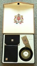 Valentino Rudy Italian Leather Money ID/Credit Card Wallets Belt Gift Set Box