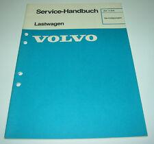 Werkstatthandbuch Volvo LKW Lastwagen Servoölpumpen Servo Öl Pumpe 12/1985