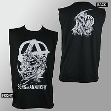 Authentic SONS OF ANARCHY A Reaper Logo Muscle Tank Top Shirt S NEW