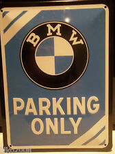 BMW PARKING ONLY, 20X15 CM  LICENCED, EMBOSSED METAL WALL SIGN / X5,Z3,X6,318