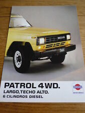 Inusual Datsun Patrol 4x4 folleto Jm