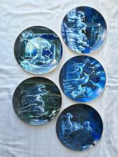 Royal Doulton Unicorn Plates Set of 5 Collector Plates The Franklin Mint